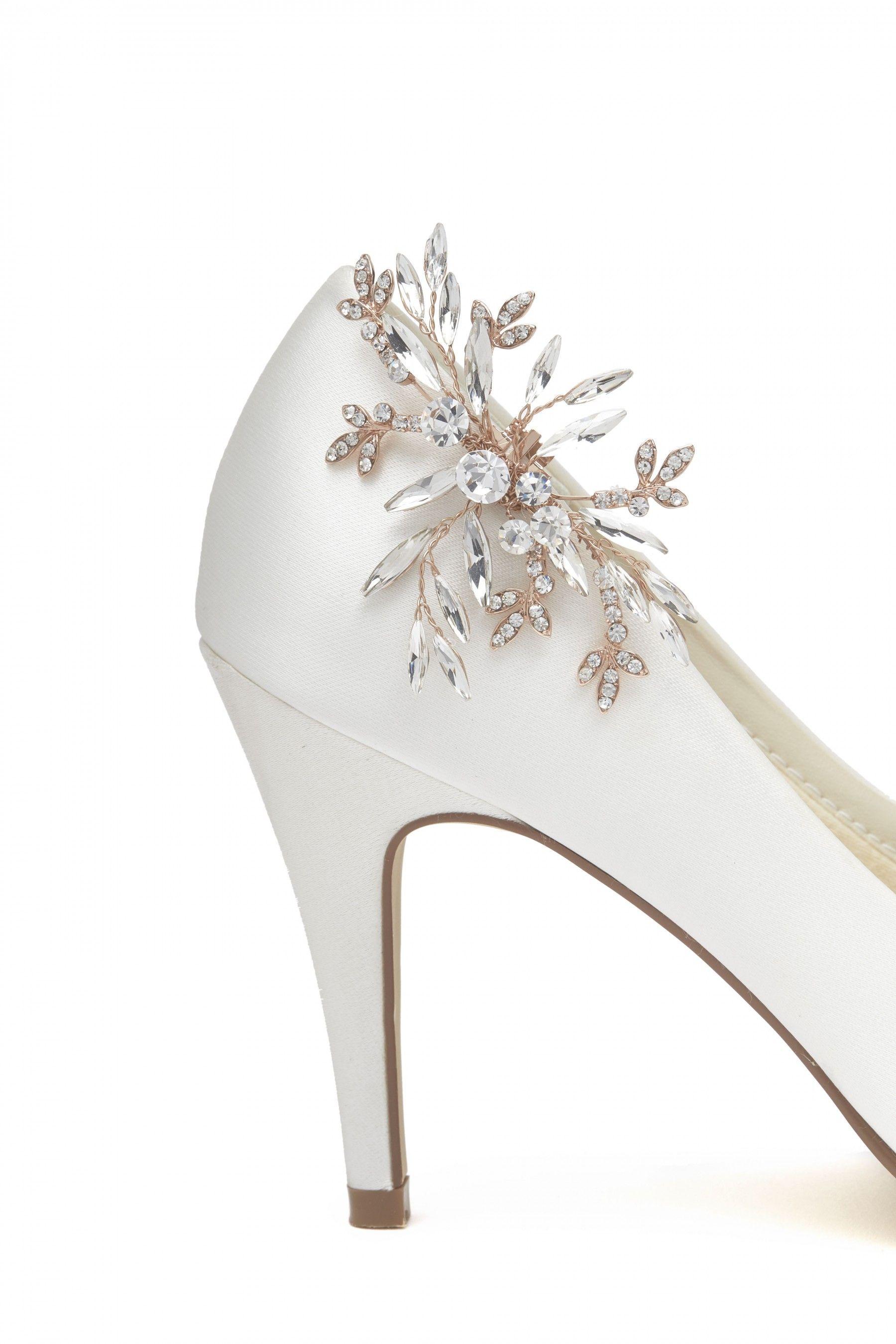 Luna Silver Diamante Shoe Clips by Rainbow Club Buy