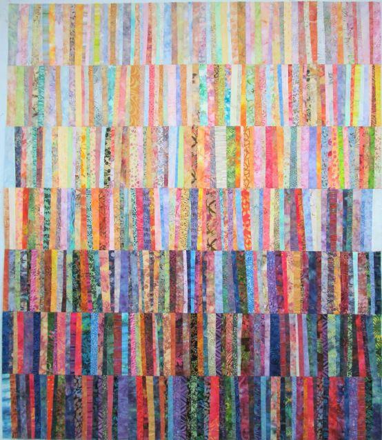 strip pieceing   Exuberant Color