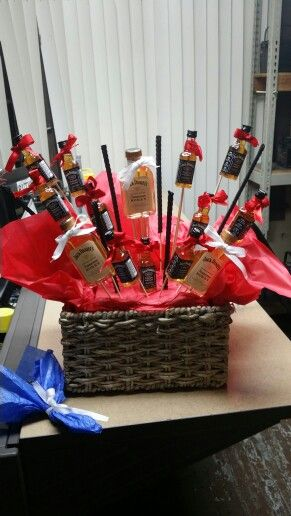 jack daniels gift basket was the perfect anniversary gift wedding