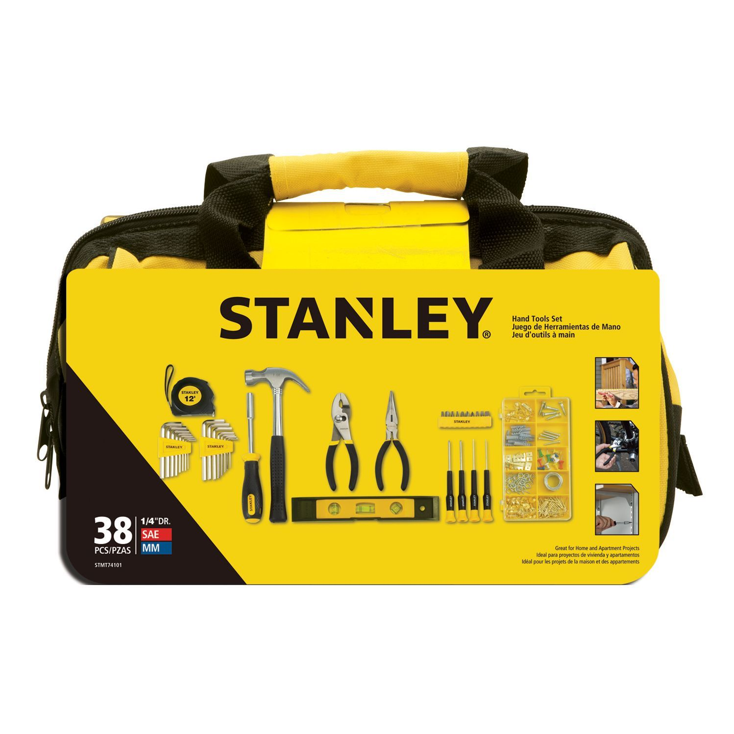 Stanley Light Duty Tool Kit, 38 Pieces | Departments | DIY ...