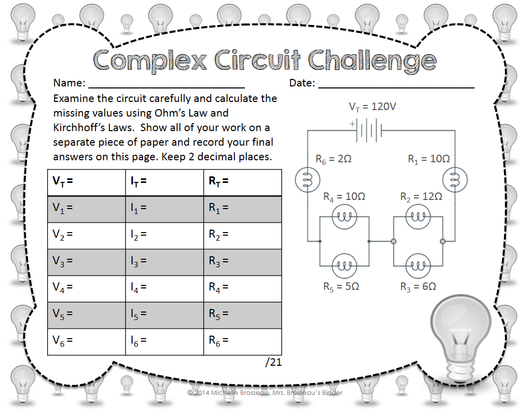 Complex Circuit Challenge Ohm S Law Kirchhoff S Law In