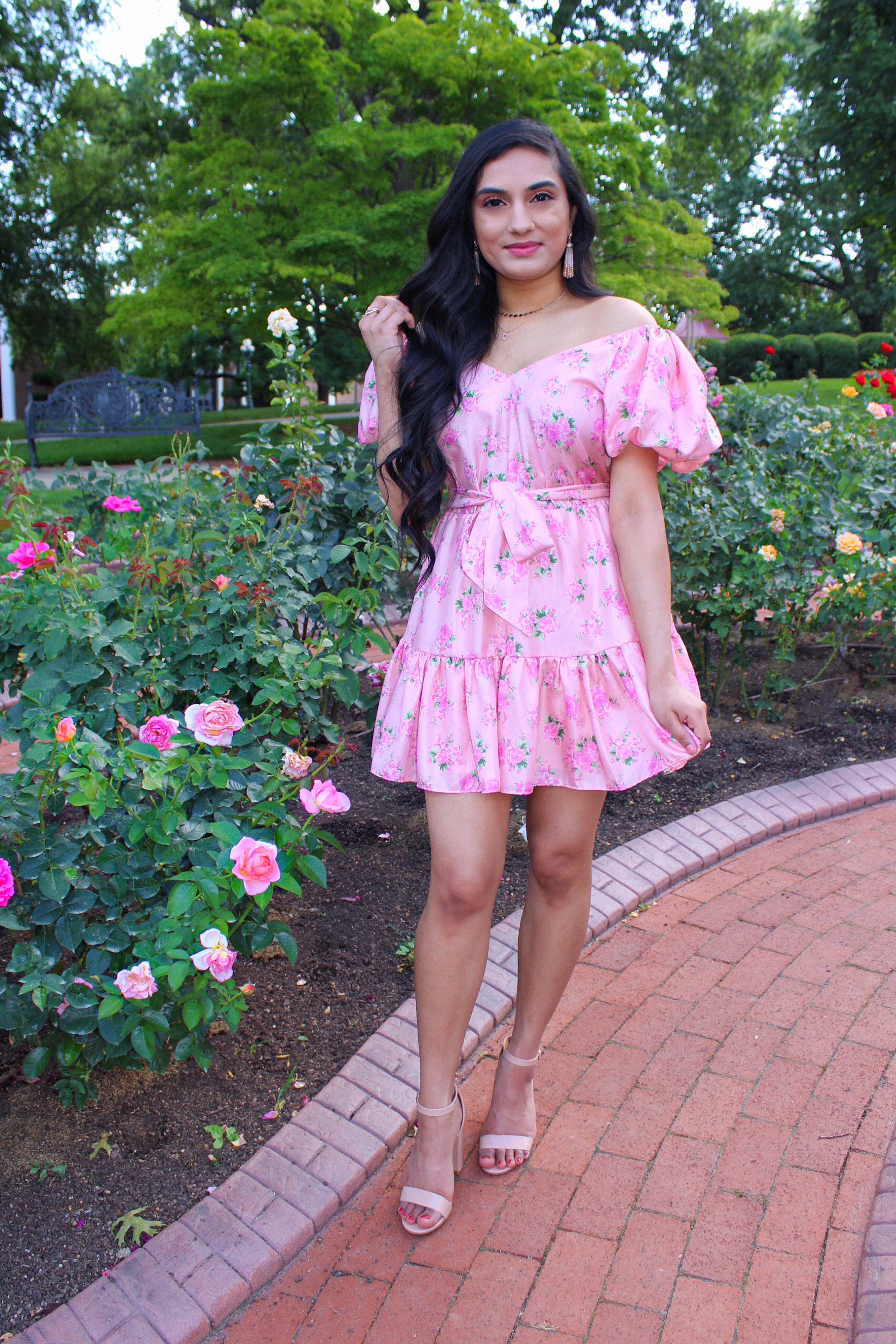 Loveshackfancy X Target Pink Floral Puff Sleeve Dress In 2021 Target Dress Dresses Puffed Sleeves Dress [ 5511 x 3674 Pixel ]