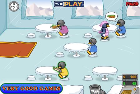 Penguin Diner Penguin diner, Mini games, Restaurant game
