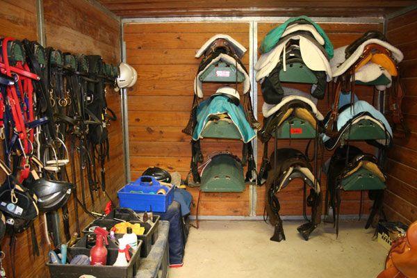 Small Tack Room Organization