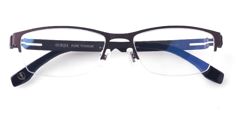 9bd9d136bb14 Women's semi-rimless titanium eyeglasses in 2019 | Eyeglass frames ...