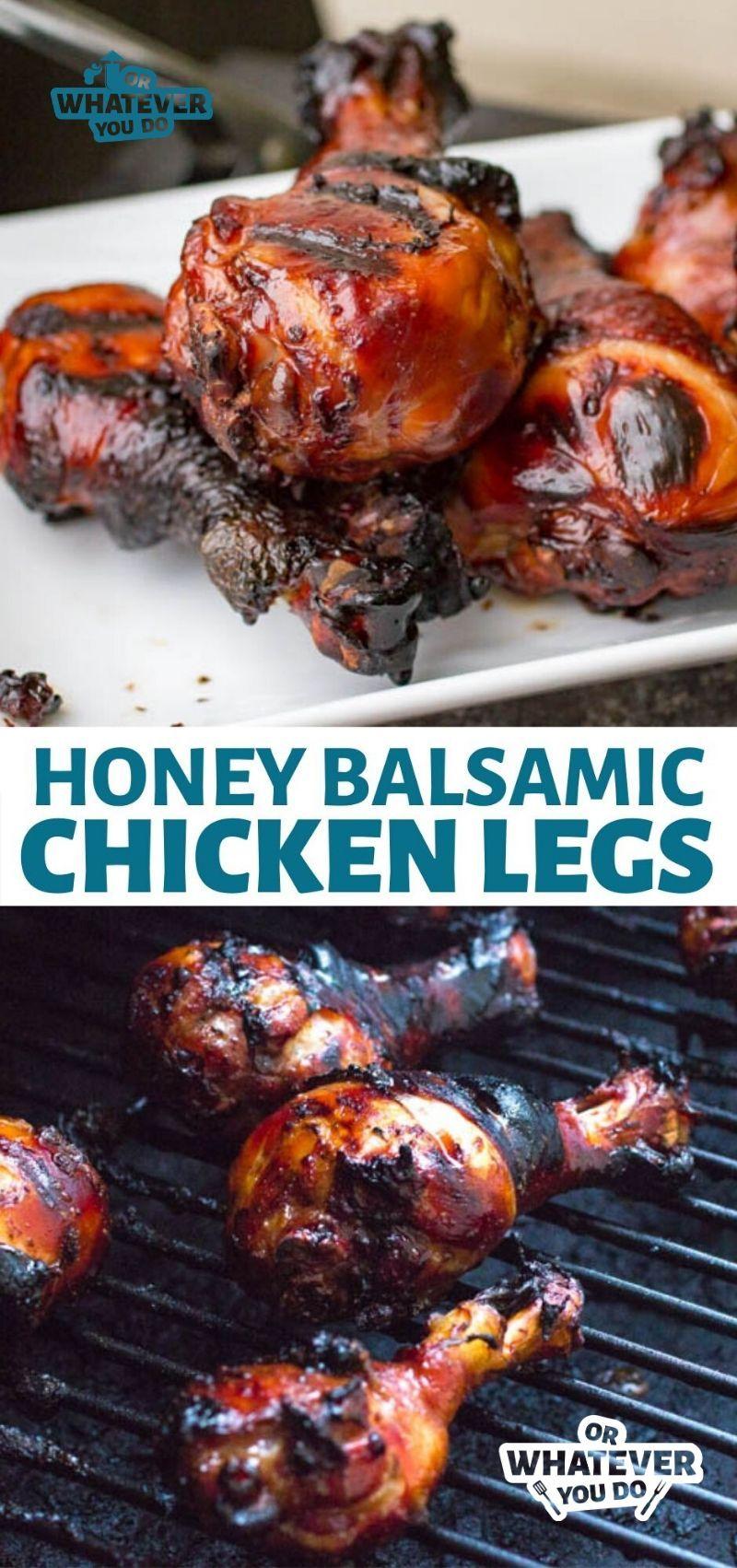 Honey Balsamic Traeger Grilled Chicken Legs | Wood-Pellet ...