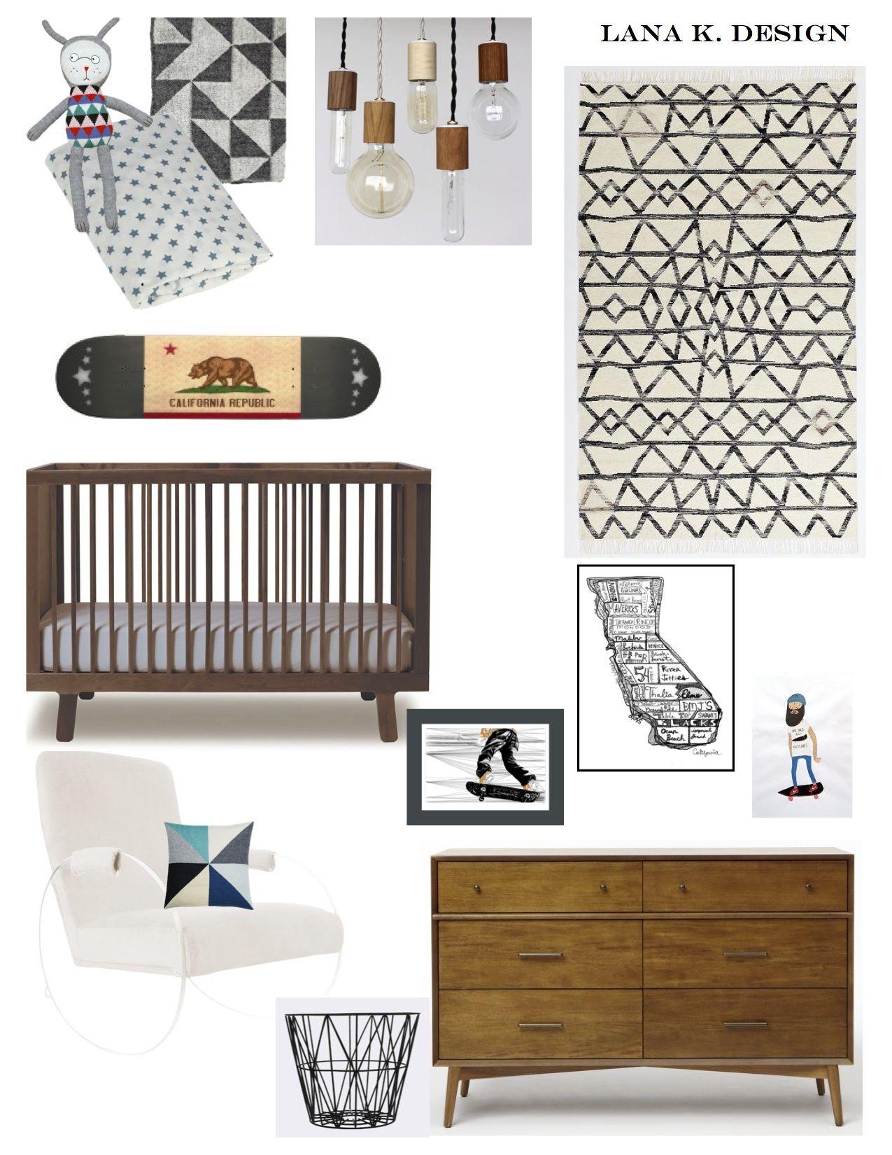 Project: Cali Skater Boy. eco friendly nursery, green nursery ...