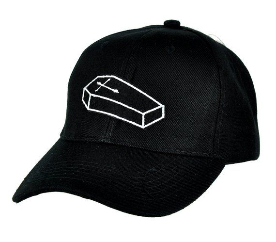 455d9815c71 Voodoo Cross On Coffin Casket Black Baseball Cap Hat - DYS-PA-233 ...