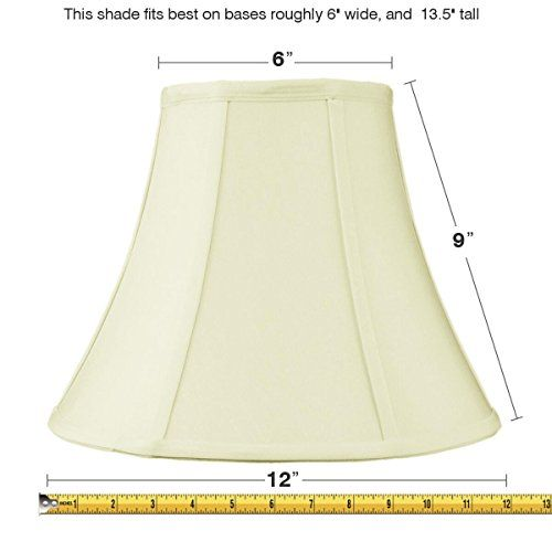 6x12x95 Slip Uno Fitter Egg Shell Shantung Bell Lampshade