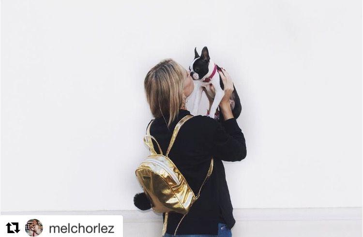 Mochila BRANKA / #MelinaLezcano  #myroslava #myroslavacarteras #handbags #spring 16 #primavera #moda #fashion #accessories #fashionlovers #unique #backpack #itgirl #model #fashionista #style #ootd #melchorlez #gold #mochila