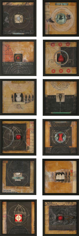 working in a series - black/tan/red    by Graceann Warn