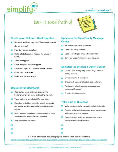 Free Printable Back To School Checklist  Stock Up On School And