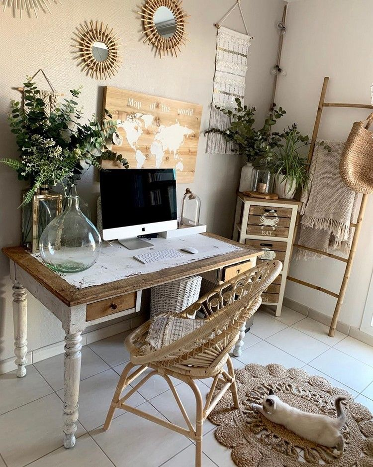 Bohemian Latest And Stylish Home Decor Design And Life Style Ideas Chic Office Decor Home Office Design Home Decor Styles