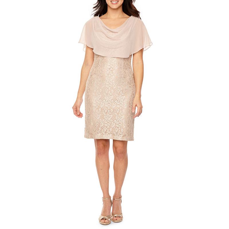 0ff0a0fd Jessica Howard Short Sleeve Cape Sheath Dress   Products   Dresses ...