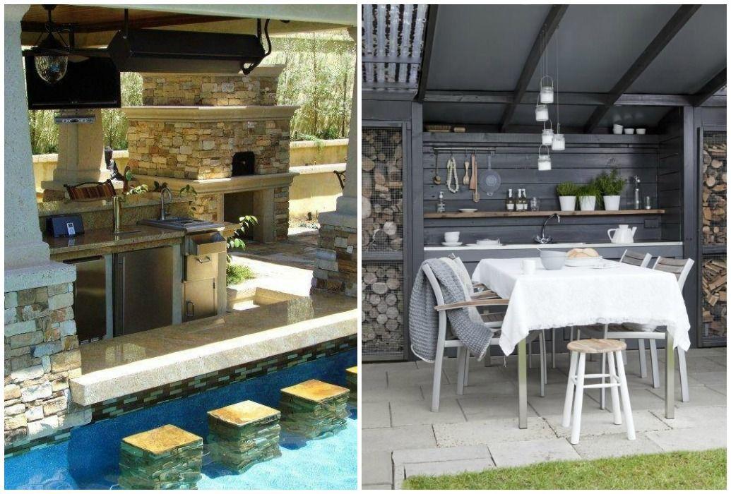 03 cocina exterior porche casa de campo pinterest Cocina exterior