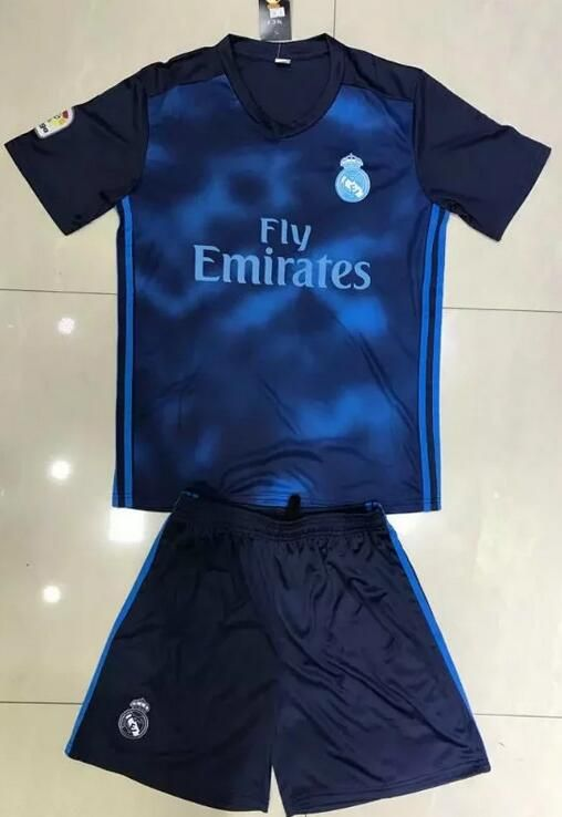 c29dafb47 2017-18 Real Madrid Blue Soccer Jerseys Uniform