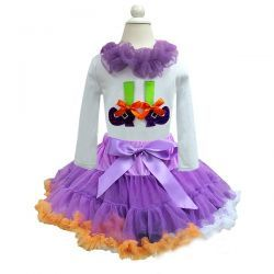 Witches Feet Halloween Pettiskirt Set from The Couture Baby