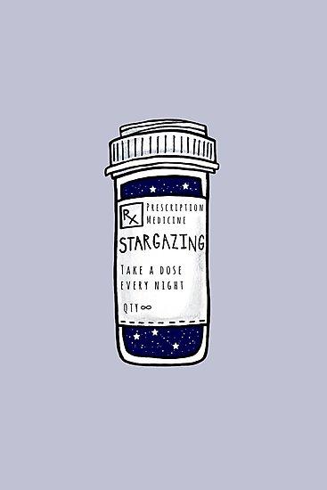 Stargazing Prescription Pill Bottle Sticker Photographic Print By Lexie Pitzen Aesthetic Space Aesthetic Art Aesthetic Wallpapers
