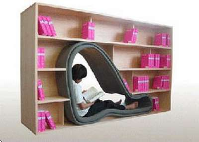 Cave Seat Within Bookcase By Sakura Adachi