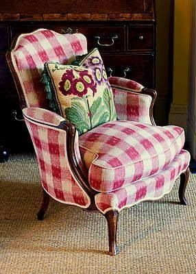 Red Buffalo Checked Chair Why Do I Fight My Love For