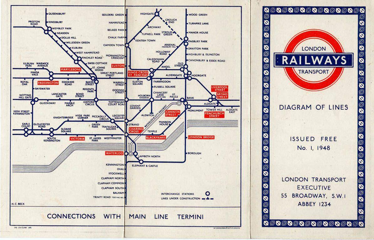 London Subway Map Russell Station.London Tube Map 1948 In 1948 Underground Map London Tube Map