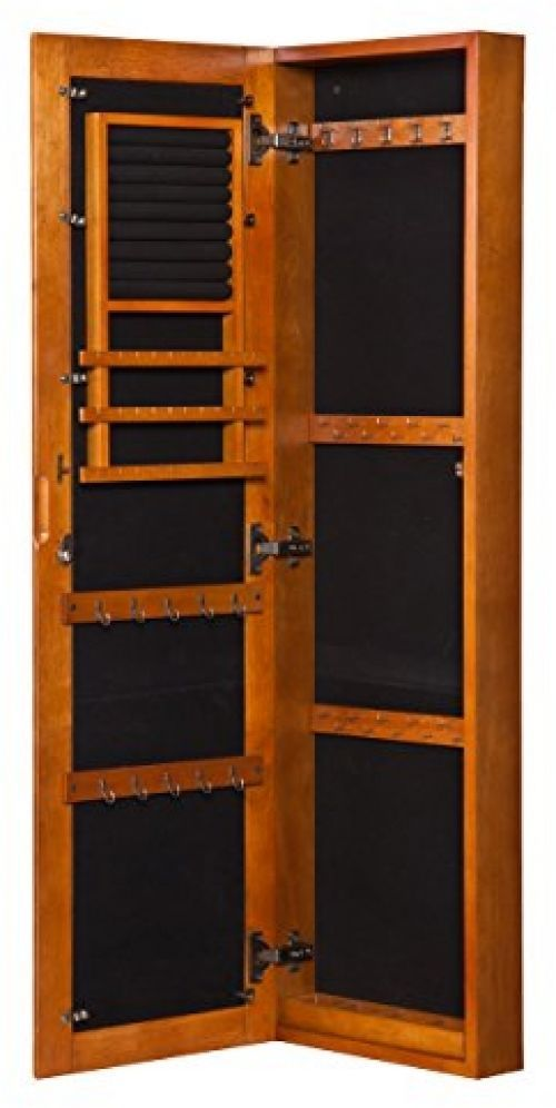 Wall Mount Armoire Jewelry Storage Cabinet Locking Mirror