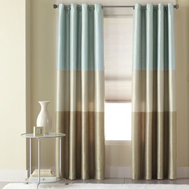 Studio Trio Grommet Top Drapery Panel Jcpenney Living Room Curtain Idea