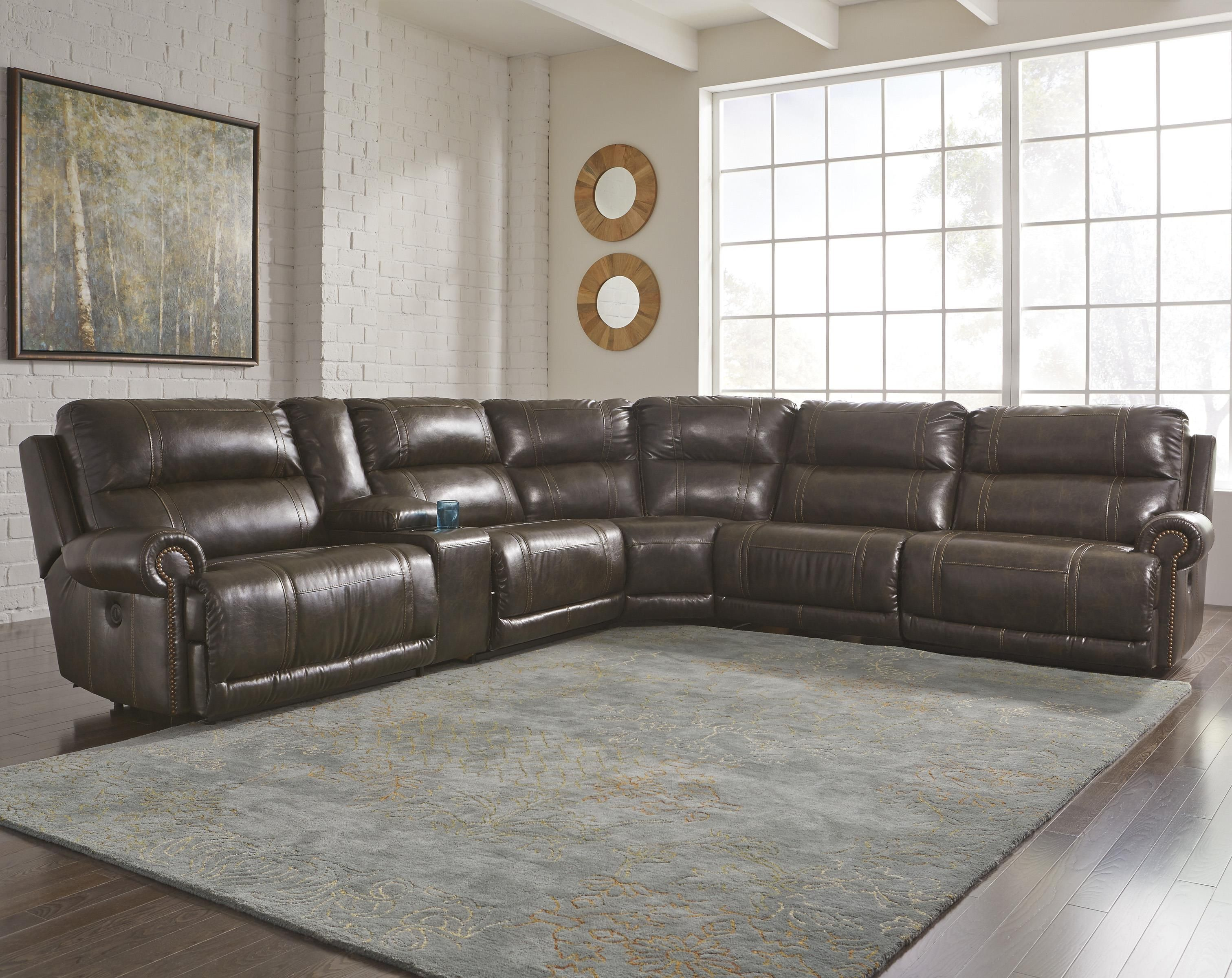 Best Dak Durablend® 6 Piece Reclining Sectional By Signature 400 x 300