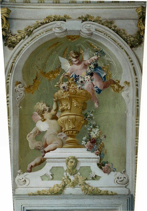 Cherub mural 2 decorative painted walls pinterest for Angel wall mural