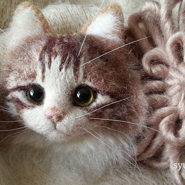 [2016.3.15] Wonder Zoo | Needle Felted Wool Animals Projects Inspiration & Ideas #feltedwoolanimals Cute Needle felted wool animal cat (Via @ysyunmana) #needlefeltedcat
