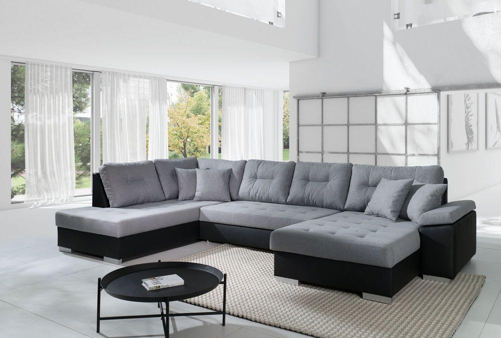 Details zu Sofa Couch Couchgarnitur Wohnlandschaft SANTORINI mit - big sofa oder wohnlandschaft