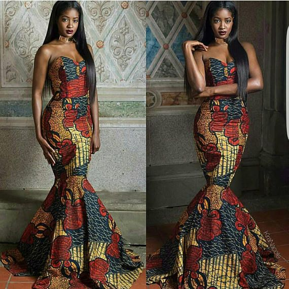 A Breathtaking Ankara Maxi Dress With The Aurora The Best African