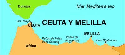 Mapa Marruecos Ceuta Y Melilla.Ceuta Y Melilla Son Dos Ciudades Autonomas De Espana