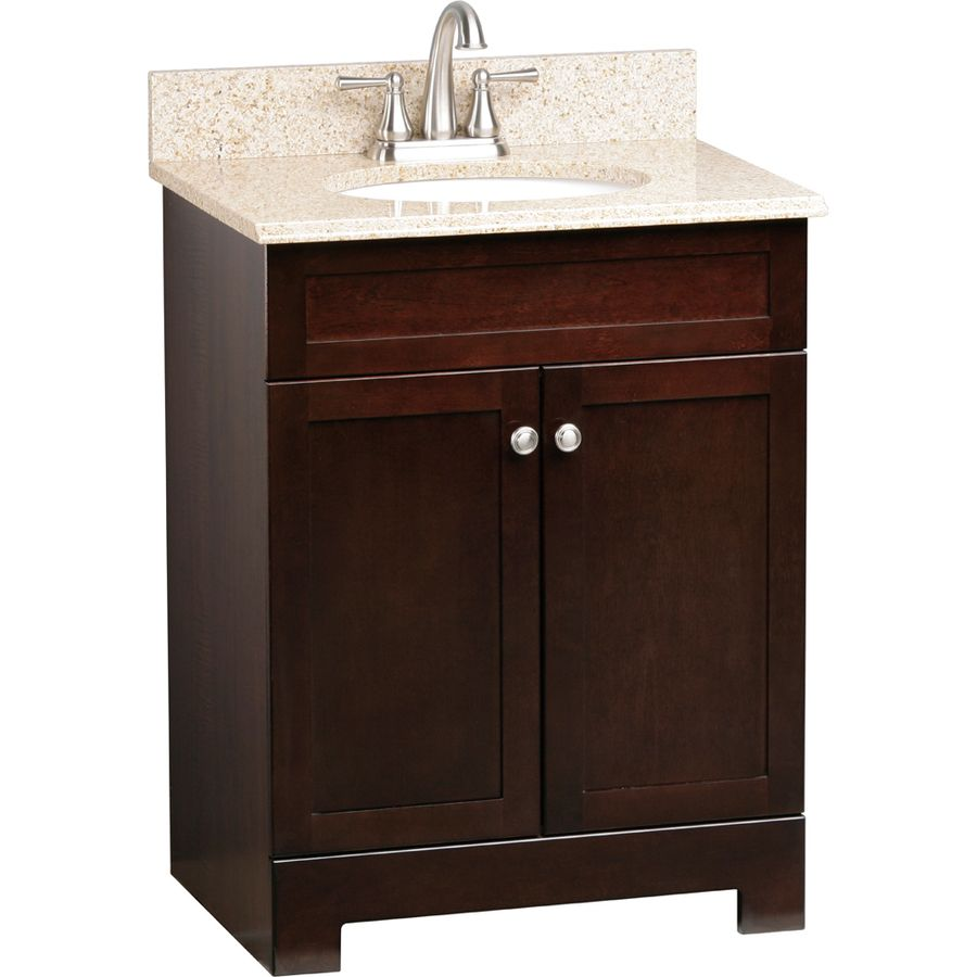 shop style selections 25 in espresso longshire single sink on lowes vanity id=69596
