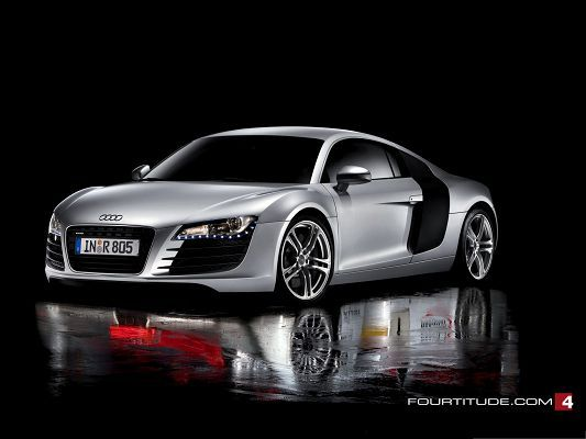 Click To Free Download The Wallpaper  Audi R8 Wallpaper, Silver Super Car In