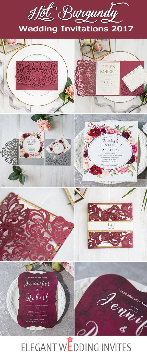 Burgundy is a very beautiful wedding color for your big day. Created ...