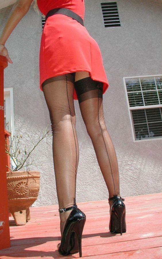 Pin by scott m on Hot legs   Pinterest   Stockings heels ...
