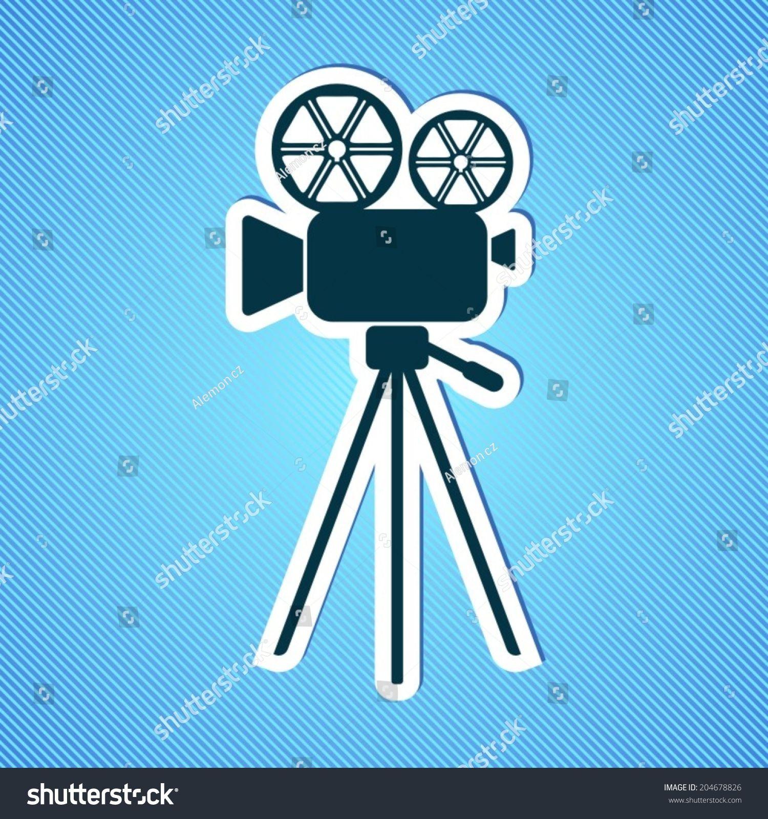 Grey Retro Movie Camera Icon On Blue Background Ad Sponsored Movie Retro Grey Camera In 2020 Camera Icon Social Media Design Graphics Icon