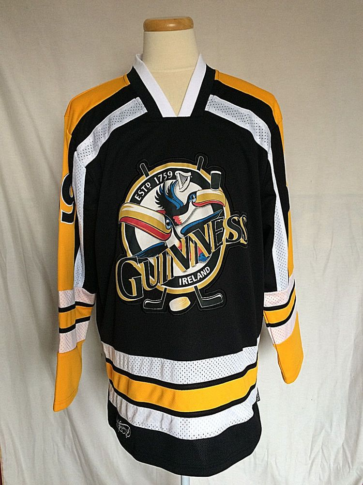 58e3a96c0 Guinness Toucan Hockey Jersey Large Black White Yellow Official Merchandise  NWOT #Guinness #Jerseys