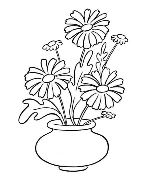 Dibujos Para Colorear Floreros 12 Dibujos Florero Dibujo Paginas Para Colorear De Flores