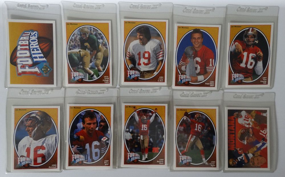 1991 upper deck ud joe montana football heroes 49ers