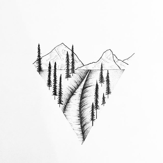 Simple black pen sketches