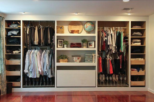 Dressing Ikea à Base D Armoires Pax Hack Chambre Parents Pinterest