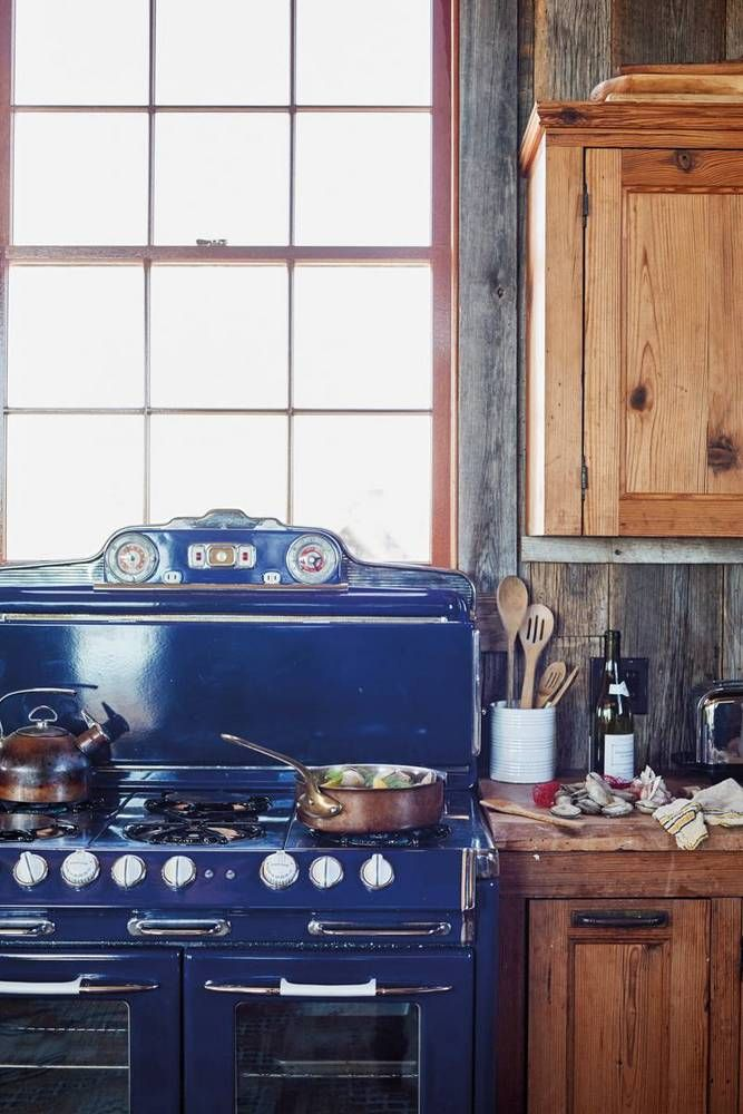 blue stovetop
