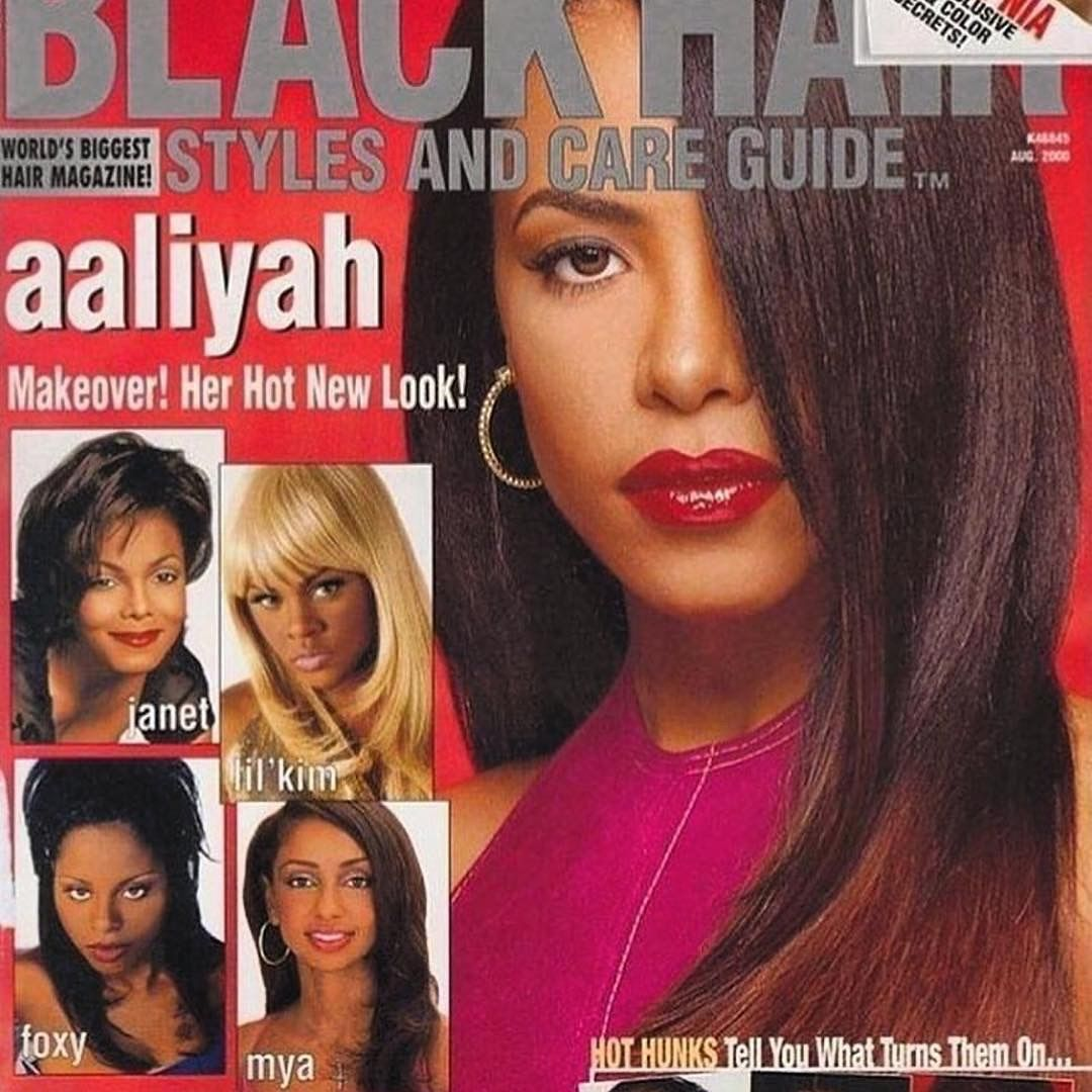 Aaliyah  Black Hair Magazine  Aug 2000  Aaliyah  Black hair magazine Hair magazine Aaliyah