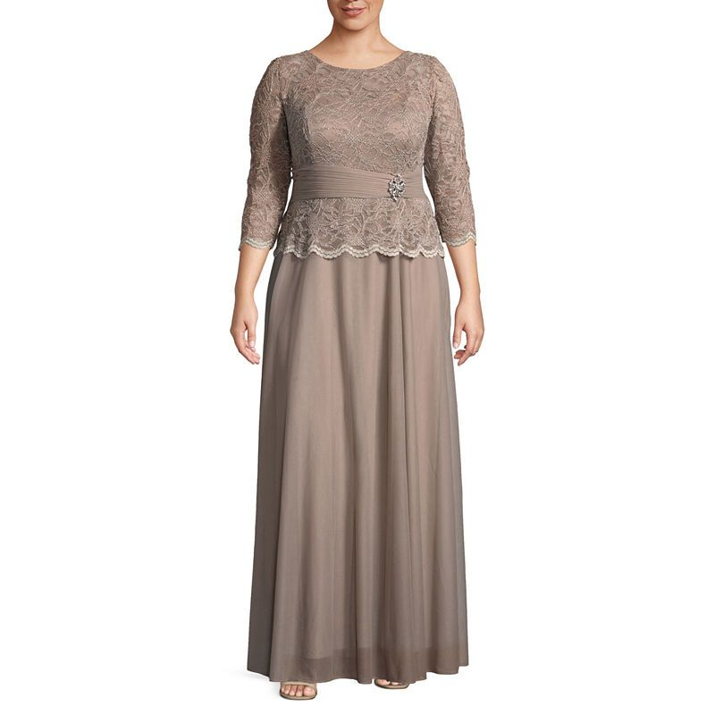 aab154d0608a Jackie Jon 3/4 Sleeve Embellished Evening Gown - Plus   Products in ...