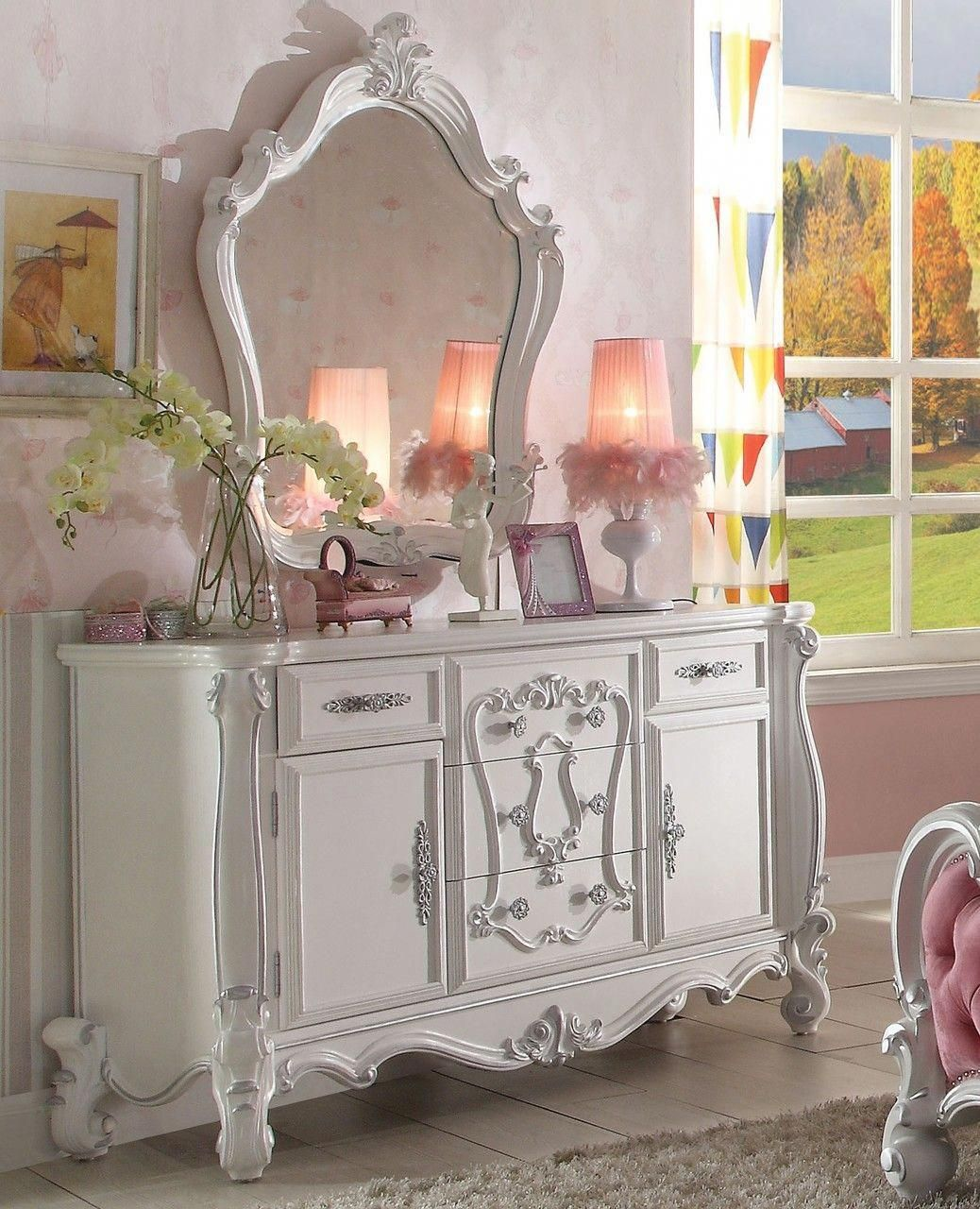 Best The Versailles Antique White Bedroom Collection Shabby 400 x 300