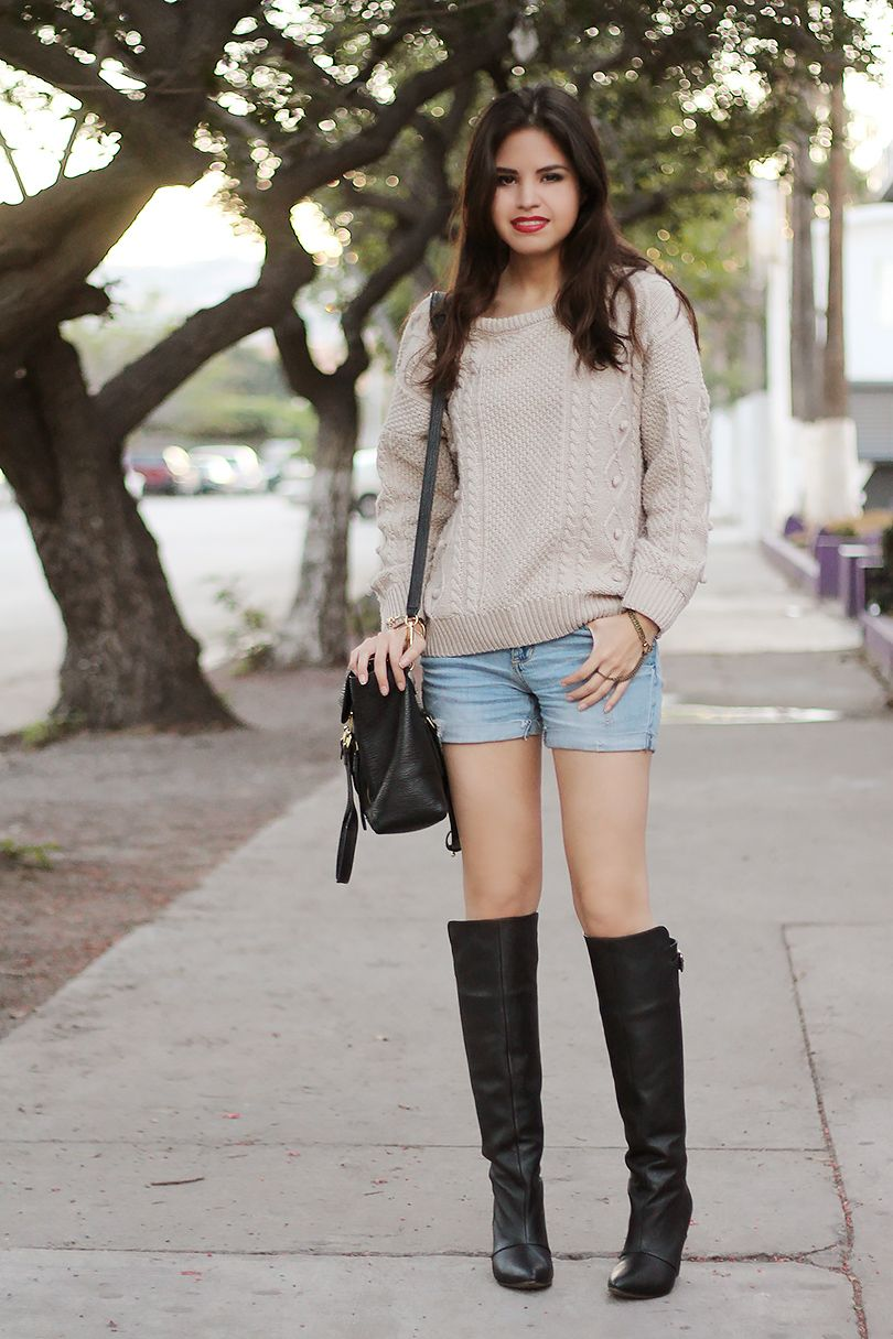 Lazy & cozy w/ over the knee boots - fake leather blog | Cozy ...