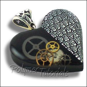 Polymer clay pendant tutorial polymer clay necklace tutorial polymer clay pendant tutorial polymer clay necklace tutorial steampunk heart polymer clay and resin tutorial aloadofball Images