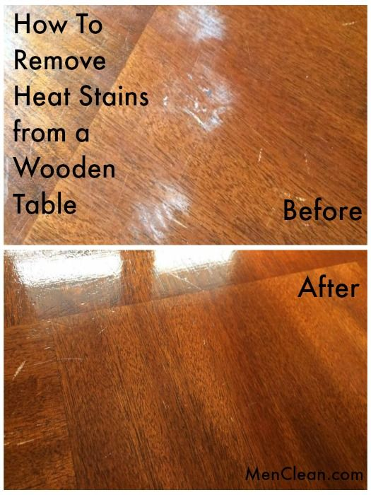 How To Remove Heat Stains From A Wooden Table Men Clean Stained Old Wood Top